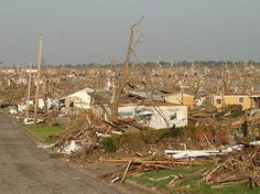 Jplin, MO immediately after an EF-5 tornado.  Read this police officer's story:  http://www.bluesheepdog.com/2011/06/14/policing-in-joplin/