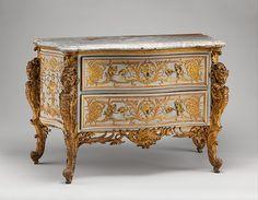 Design attributed to Jean François Cuvilliés the Elder (German (born Belgian) 1695–1768). Commode, ca. 1735–40.The Metropolitan Museum of Art, New York. Fletcher Fund, 1928 (28.154).