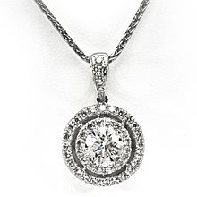 Gorgeous. If only the diamond was attached to the chain so it wouldn't slide around.