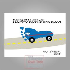 Items similar to Father's Day Footprint Car Card Printable for New Dad New Mom New Grandpa - Gift from baby, Mother's Day, Personalized Car Footprint on Etsy First Fathers Day, Happy Father, Kool Kids, Kids Fun, Activities For Kids, Crafts For Kids, Car Card, Fathers Day Crafts, New Dads