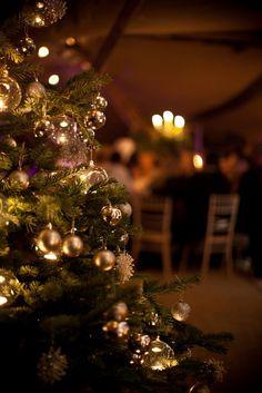 Christmas wedding pic of reception idea