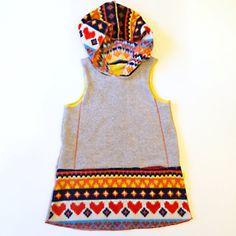 scandi heart hooded jumper / Warm by marissa v
