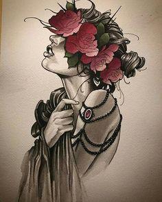 Neo traditionnal #tattoo #sketch