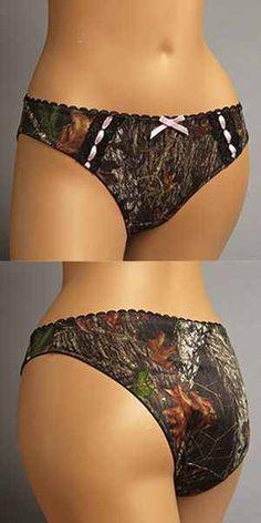 76d3405b078d Mossy Oak Camouflage Break-Up Pink Trim Panty or Thong Swimwear