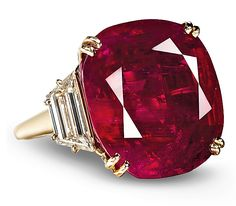 this 32.08 ct Burmese ruby ring by Chaumet, Image © Christie's mm