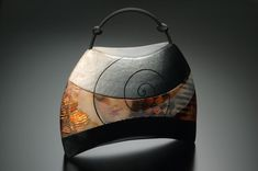 Kathleen Dustin ~ 'Contemplating Yesterday' shoulder purse with either shoulder or handheld rubber cord