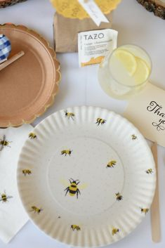 Host a shower for your Bride to Bee! Our honey bee themed party has everything from decorations to thank you notes. Let's Party! Bridal Shower Party, Baby Shower Parties, Holiday Party Themes, Ideas Party, Bumble Bee Birthday, Best Holiday Cookies, Ideias Diy, Bee Theme, Sofia Rae