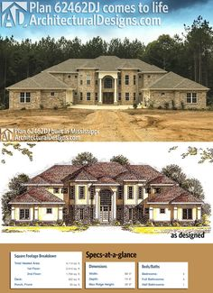 Our client built Architectural Designs House Plan 62462DJ on a slab foundation in Mississippi. Ready when you are. Where do YOU want to build?