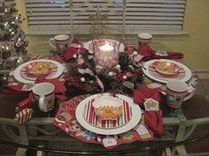 Christmas table decor ideas.....