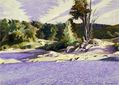White River at Sharon, 1937, Edward Hopper