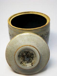 Stoneware Lidded Covered Container Jar Pot Mid Century Danish Modern Style | eBay