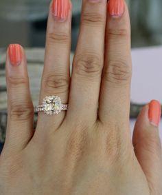 SET  2.0 Ct. Peach  Champagne Sapphire Diamond 14K by Studio1040, $2950.00