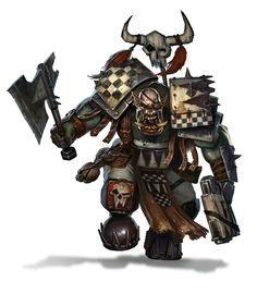 warhammercomplete:  Goff Klan Ork by DiegoGisbertLlorens