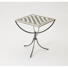 Polished Nickel Chess Table Go Home Game Tables Game Tables Game Room & Bar Furniture