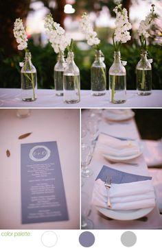 Warm White | Lavender | Grey -- Winter Wedding W Hotel Fort Lauderdale courtesy of Kallima Photography