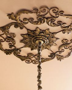 Ceiling Medallion - also check out the other choices on Horchow.com