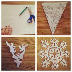 My own snowflakes DIY :) merry christmas.