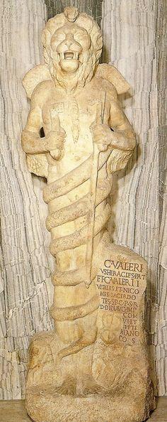Mithraic lion-headed figure or Leontocephaline (Aion or Ahriman)