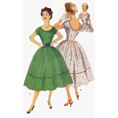 Old Sewing Patterns Vintage Dress Pattern Simplicity 4300 Kimono Sleeves Shawl. Old Sewing Patterns Misses Simplicity Sewing Pattern 4641 Ff Misses Mo Vintage Fashion 1950s, Fifties Fashion, Vintage Dresses 50s, Retro Fashion, Vintage Outfits, 1950s Dresses, Vintage Clothing, Vintage Jewelry, Moda Vintage