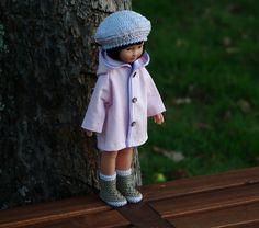 vêtements manteau bonnet chaussures pour poupée type les Chéries de Corolle 32/33 cm