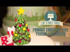 Christmas Tree Cake Topper Tutorial on Cake Central
