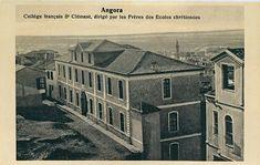 1900'lü yılların başı-Saint Clement Fransız Koleji, 1917 yangınında harap hale geldi.