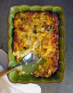 Gale Gand's Recipe for Strata  - HouseBeautiful.com cut cubes smaller, bake 70 minutes then check