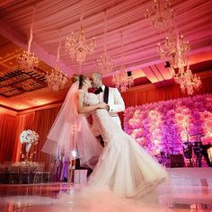 Draping, florals and chandeliers created a memorable ever after moment @FSMiami