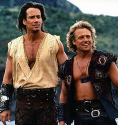 Kevin Sorbo as Hercules and Michael Hurst as Iolaus - great partners, wonderful chemistry in Hercules: The Legendary Journeys and Xena: Warrior Princess. I had a crush on both of them at one time.