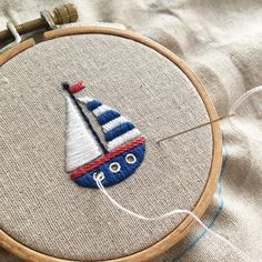 . . ⛵️. . . Love this!  Embroidery ideas...