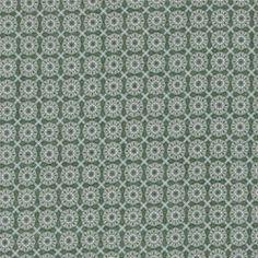 Bomull grønn m blå/sand flisemønster