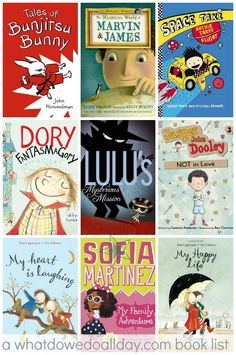 Early chapter books for 5 to 8 year olds. Great list of books!