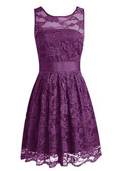 Wedtrend Women's Floral Lace Dress Bridesmaids Dress Short Prom Dress 10103Grape6 Wedtrend http://smile.amazon.com/dp/B0146KC598/ref=cm_sw_r_pi_dp_pABEwb1SGMJ9J