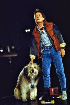"""Marty McFly (Michael J Fox) in """"Back to the Future"""". 80s Movies, Great Movies, 80s Movie Costumes, 80s Costume, Comedy Movies, Love Movie, Movie Tv, Movies Showing, Movies And Tv Shows"""