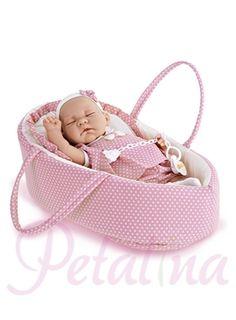 Petalina - Dolls > Antonio Juan Vittoria Sleeping Baby Doll in Carry Cot