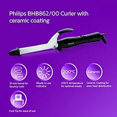 Philips BHB862 Hair Curler (Black/White): Amazon.in: Health & Personal Care