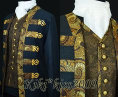 Military Uniform Victorian Noble Wool Suit Jacket Custom-made Midnight blue
