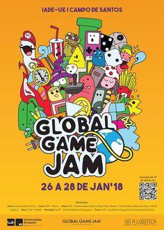 Poster showcase 2018 | Global Game Jam® Poster Creator, Games, Gaming, Plays, Game, Toys
