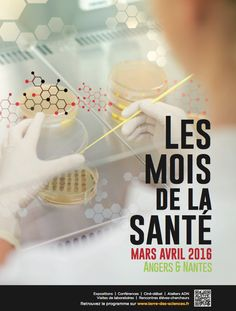 Les Mois de la Santé à Angers et Nantes, , tout un programme pour toutes et tous en accès libre. Visites de laboratoires, ateliers de l'École de l'ADN, conférence, ciné-débat, expositions...