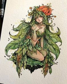 Margaret Morales is a visual designer, painter and watercolor artist from Philippines. Pretty Art, Cute Art, Art And Illustration, Arte Sketchbook, Witch Art, Character Design Inspiration, Aesthetic Art, Cute Drawings, Art Girl