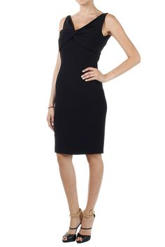 DSQUARED2 black sheath dress. sleeveless and with V front (art.  S75CT0865 S41805 900 NERO)