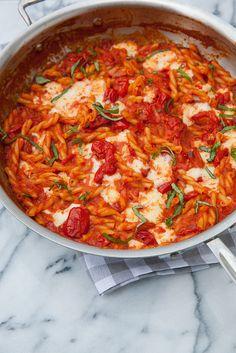 Cheesy Pasta with Tomato Cream Sauce | Annie's Eats