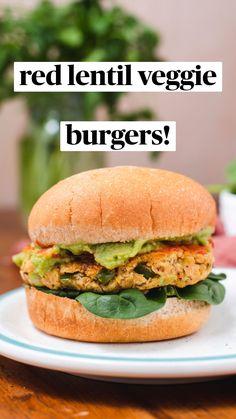 Easy Vegetarian Dinner, Vegan Dinner Recipes, Veggie Recipes, Vegetarian Recipes, Cooking Recipes, Healthy Recipes, Vegetarian Burgers, Easy Veggie Burger Recipe, Vegan Bean Burger