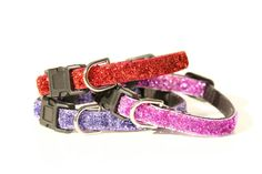 You Choose Glitter Small Nylon Adjustable Buckle by collarfulpets, $10.49