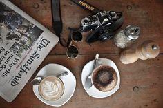 Nikon newspaper & cappuccino = the perfect day <3