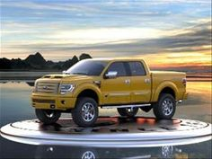 A full-scale recasting of one of the world's most iconic metal toys, the 2014 Ford Tonka goes on sale this month at select Ford dealers across the country. Produced by Tuscany Motor Company in Elkhart, Indiana under license from Hasbro, it' Nissan Trucks, Lifted Ford Trucks, Tonka Trucks, Hummer, Upcoming Cars, All Terrain Tyres, Kelley Blue, Yellow Car, Ford Super Duty