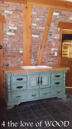 4 the love of wood: BEAUTIFUL WORKSHOP SINK - made from an old dresser