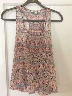 Forever 21 sheer printed tank. Size small. Good used condition. $8 shipped in U.S.
