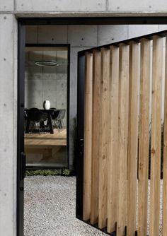 Concrete Box House, maison en béton et bois par Robertson Design - Journal du Design
