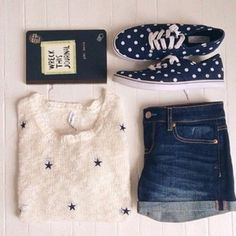 sweater blue dark denim pale indie boho white black laces patterned sweater style stars navy blue shirt knitted sweater knitwear vans trainers denim shorts denim journal book writing dark shorts boho chic hipster shorts hipster clothes tumblr outfit tumblr laceshoes summer shorts summer shoes jumpsuit home accessory